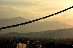 View of Nepal from Buddanath stupa Stock Photo
