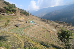 View of Nepal Poon Hill Royalty Free Stock Images