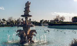 View of Neptune Fountain Royalty Free Stock Photography