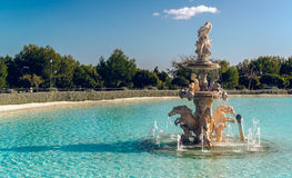 View of Neptune Fountain Royalty Free Stock Photos