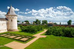 View of Nero Lake from the Rostov Kremlin Royalty Free Stock Image