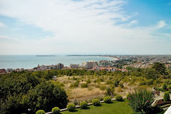 View in Nesebar New town. Stock Images