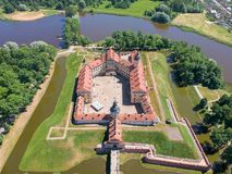 View on the Nesvizh Castle Stock Photos