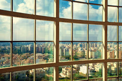 View of Netanya, Israel. From high rise window Royalty Free Stock Photos