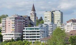 View in Neuhausen am Rheinfall. City in Switzerland Stock Photo