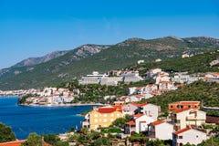 View of Neum town. View of Neum mediterranean seaside town in Bosnia Stock Photo