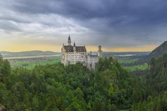 View of Neuschwanstein Castle royalty free stock images