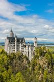 View of the Neuschwanstein castle and surroundings in Bavaria royalty free stock photography