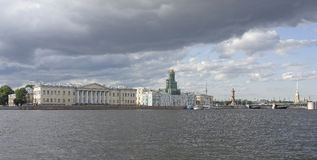View of the Neva on July 5  in St. Petersburg Royalty Free Stock Images