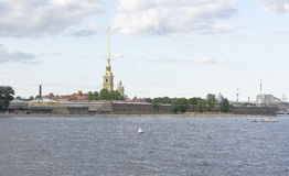 View of the Neva on July 5; 2015 in St. Petersburg Royalty Free Stock Image