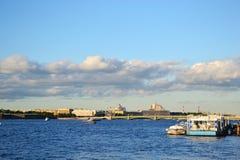 View of the Neva river Stock Photos