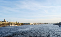 View of the Neva river Royalty Free Stock Photo