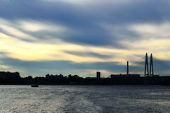View of Neva river Royalty Free Stock Photos