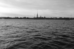 View of Neva River. Royalty Free Stock Photo