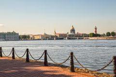 View of the Neva River embankments Royalty Free Stock Photography