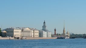 View of the Neva river, The Kunstkammer in the summer - St Petersburg, Russia Stock Photography