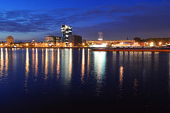 View of Neva river at night Stock Photography