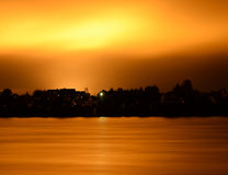 View of Neva River at night. Stock Images