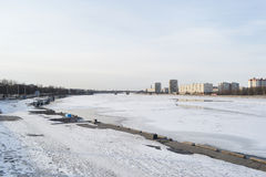 View of Neva River on the outskirts of St. Petersburg. Royalty Free Stock Images