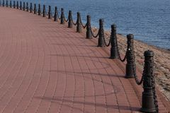 View of Neva river from Peter and Paul fortress embankment stock photography