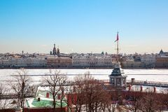 View of Neva River with Peter and Paul's Fortress Stock Photos