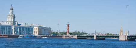 Neva River, Saint Petersburg. View on Neva River, Saint Petersburg Royalty Free Stock Photos
