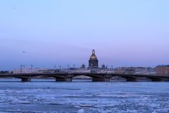 View on the Neva river stock photography