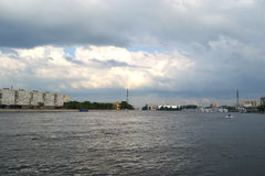 View of Neva river, St.Petersburg Royalty Free Stock Photos