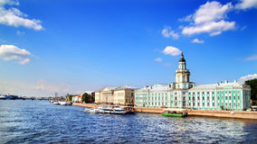 View of the Neva river. St. Petersburg Royalty Free Stock Photography