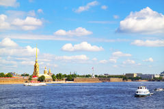 View of the Neva river. St. Petersburg Stock Photos