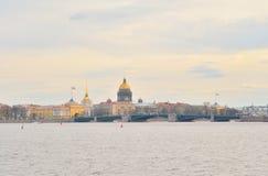 View of Neva River in St.Petersburg. Stock Photos