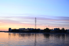 View of Neva River in St.Petersburg. Royalty Free Stock Photo