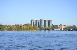 View of Neva river, St.Petersburg. Royalty Free Stock Photography