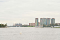 View of Neva river, St.Petersburg. Royalty Free Stock Images