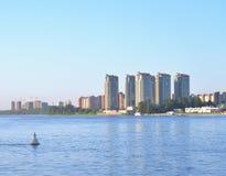 View of Neva river, St.Petersburg. Stock Photo