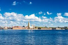 View of the Neva river. St. Petersburg Royalty Free Stock Photos