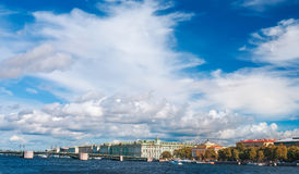 View of Neva river in St.Petersburg, Russia Royalty Free Stock Photography