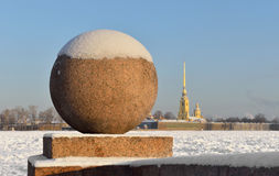 View of Neva River in winter Royalty Free Stock Images