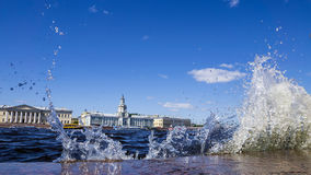 View of the Neva. St. Petersburg, Russia Royalty Free Stock Photo