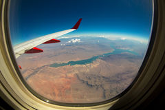 View of Nevada Landscape from Sky Royalty Free Stock Photo