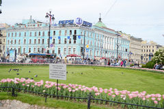 View of Nevsky Prospect. Stock Photos