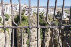 View from the new Bridge over Guadalevin River in Ronda, Malaga, Stock Photography