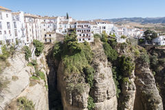 View from the new Bridge over Guadalevin River in Ronda, Malaga, Stock Images