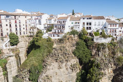 View from the new Bridge over Guadalevin River in Ronda, Malaga, Royalty Free Stock Photos
