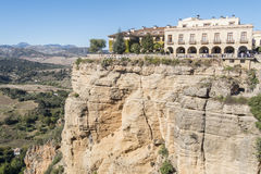 View from the new Bridge over Guadalevin River in Ronda, Malaga, stock image