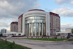 View on the  new building. Ashkhabad. Turkmenistan Royalty Free Stock Photos