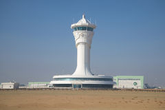A view on new buildings of control center of flights at the international airport of Ashgabat Royalty Free Stock Photos