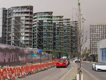 View of new development in Nine Elms Embassy Gardens Stock Image