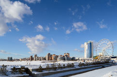 View on new district of Kazan, Russia. Of 19.02.2017 Stock Photography