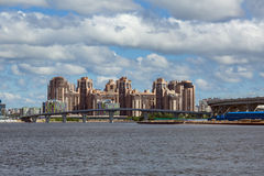 View of the new districts of Saint Petersbug, Russia royalty free stock photography